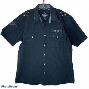 Roar Men's Casual Grey Button-Down Shirt